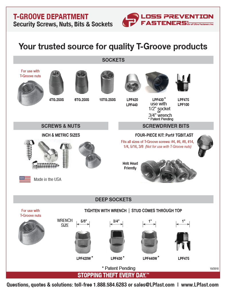 Made in USA T-Groove Nuts